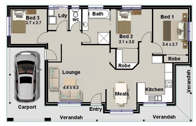 Australian house floor plans homestead 3 bed room house plan for 2 bedroom house plans australia