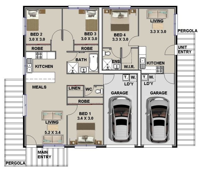 Dual Key Floor Plans Australian Dual Key Home Plans