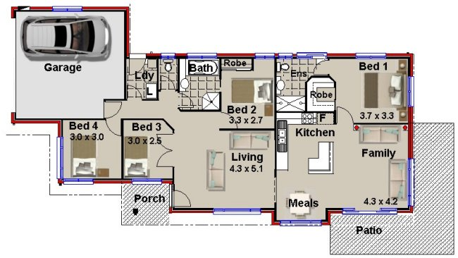 newhome design-narrow lot homes
