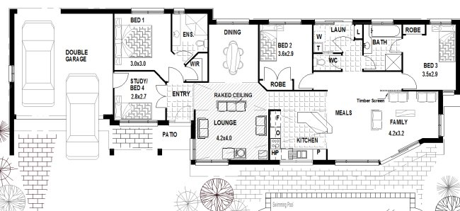 Corner block home designs corner block house designs for Free australian house designs and floor plans