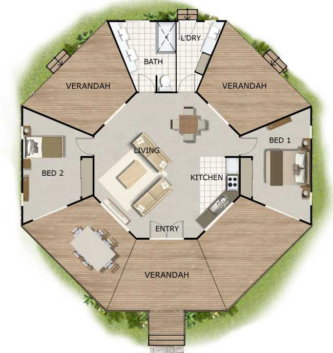 Dome Home Kits And Plans: 2 Bedroom 1 Bathroom Granny Flat