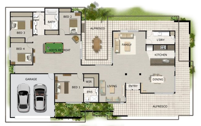 Australian house floor plans homestead house design 4 for Free australian house designs and floor plans