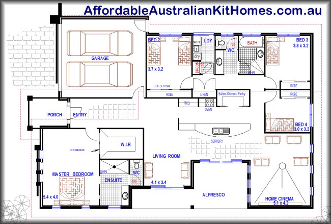Australian house floor plans brisbane plan 246 for Open plan house designs australia