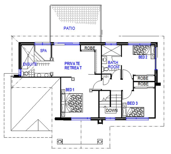 House floor plans two storey house plan 4 bedroom for Four bedroom double storey house plan