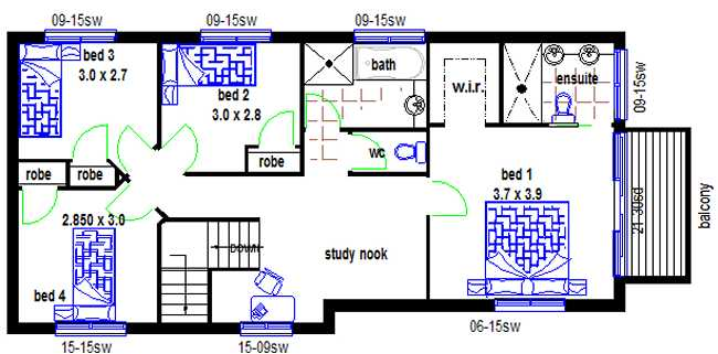New Design 4 Bedroom Narrow Lot Design House Plans