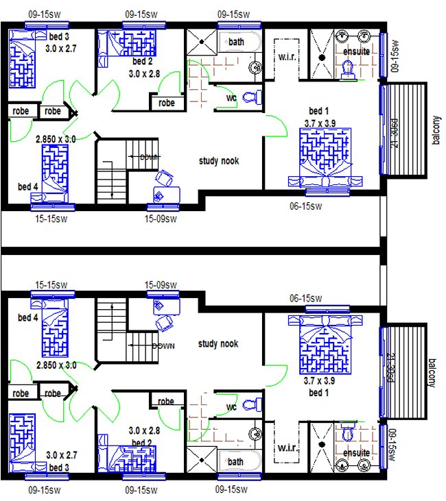 Newhome Design. Lower Floor Townhouse Floor Plans