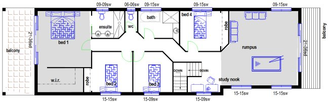 8 meters wide narrow lot two storey home 4 bedroom family home narrow lot double storey homes - Meter wide house plans ...