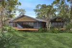 Acreage House Plans-hillside house plan
