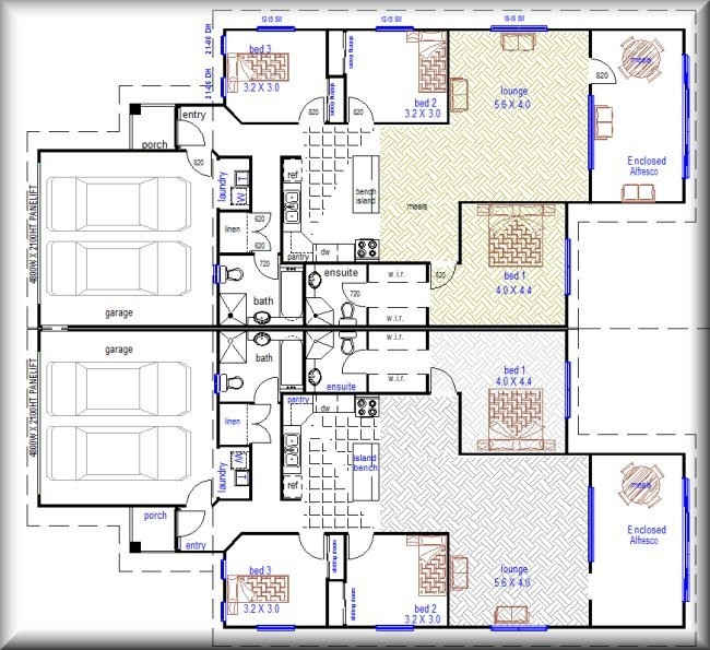 Australian Plan No 376 6 Bedroom Duplex Design Duplex