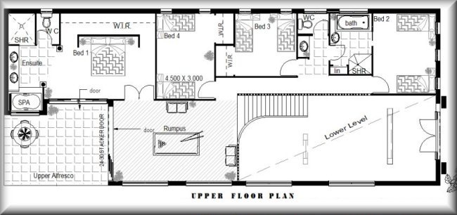 Australian narrow lot 4 bedroom guest room cinema for 2 bedroom house plans australia