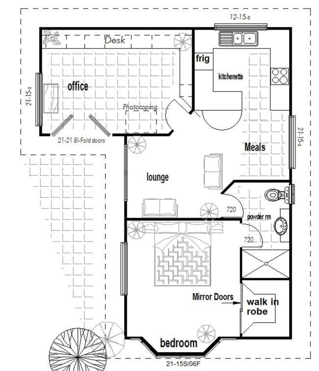 Australian house floor plans l shaped granny flat with for House plans australia free