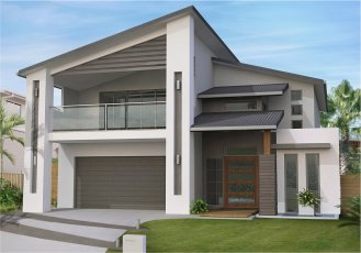 Duplex home designs corner blocks house design plans for Corner duplex designs